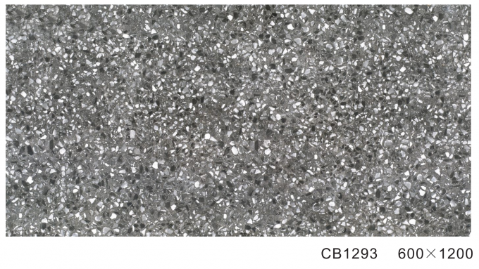 600*1200mm Dark Gray Glazed Porcelain Floor Tile  , Outside Glazed Porcelain Floor And Wall Tile