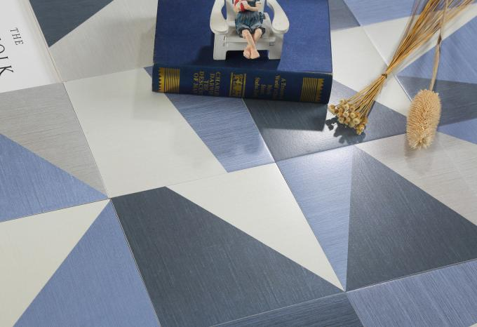 Blue And White Glazed Ceramic Tile  For Shower Floor Fancy  Non Slip  20x20cm