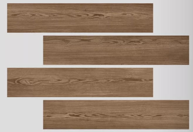 CE ISO Listed Dark Brown Wood Look Porcelain Tile High - Tech Building Materials