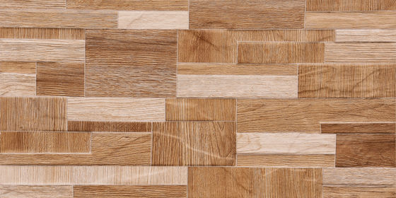 Good Quality Glazed Ceramic Tile & Wooden Color 3D 600 X 300 Ceramic Wall Tiles Apply  For Kitchen   Brown Or White on sale