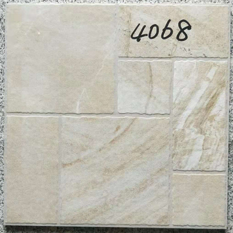 Decorative 400 X 400 White Tiles  For Bathroom Shower Non Slip Ceramic
