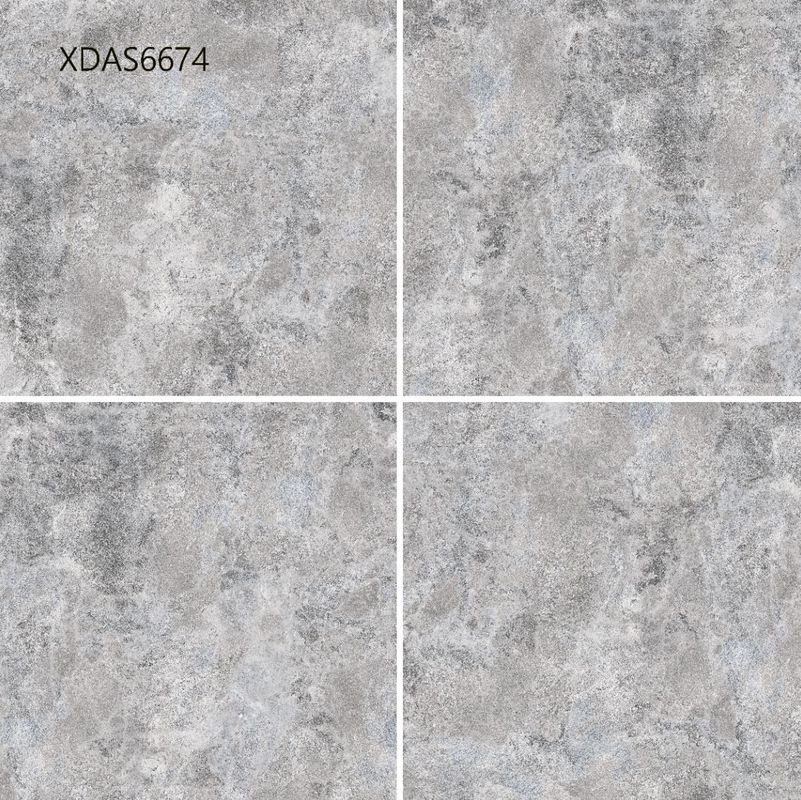Light Grey Blue Glazed Ceramic Tile For Shower  Bathroom  Outdoor  Matted 600x600mm