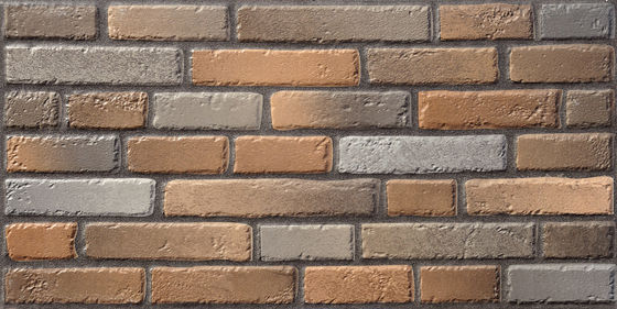 China Brick Matt Brown / Gray 600 X 300 Bathroom Wall Tiles Outdoor Trendy   Rough Suface Cultured factory