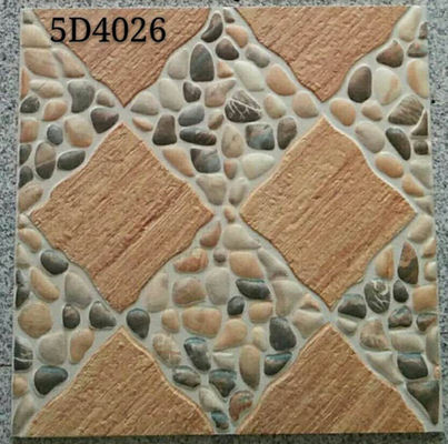 China Antique Style 400x400 Floor Tiles Ceramic Exterior Courtyard  Differnt Patterned factory