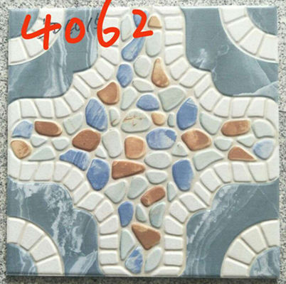 China Building 400x400 Floor Tiles , Decorative Blue Rustic 400mm Floor Tiles factory