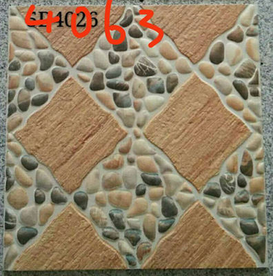 China Stone Design 400x400 Floor Tiles , Patterned Outdoor Tiles 400 X 400 For Kitchen factory