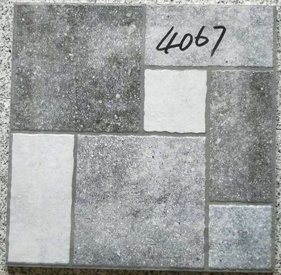 Grey Bathroom 400x400 Floor Tiles Rustic  3d Inkjet Printing Interior Exterior