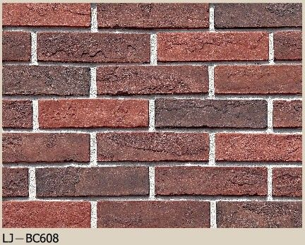 China Red Brick Artificial Cultured Stone / Exterior Stone Panels 60x223mm Size factory