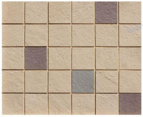 Small Size Flexible Ceramic Tile , Brick Effect Wall Tiles Mixed Color