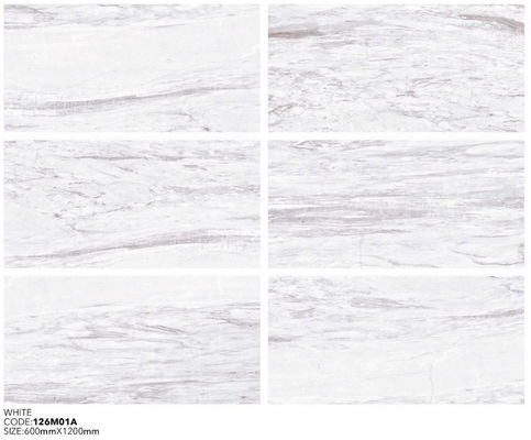 China WHITE MARBLE PORCELAIN TILE 600X1200MM factory
