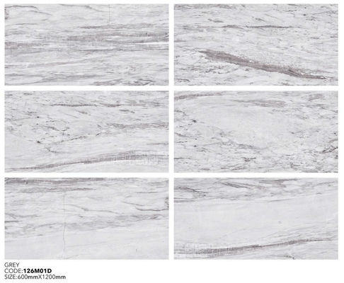 China GRAY COLOR MORDEN STYLE  MARBLE PORCELAIN TILE 600X1200MM factory